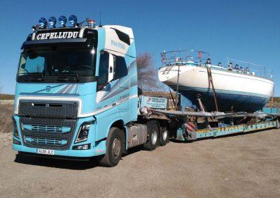 Cepelludo transporte barco 3