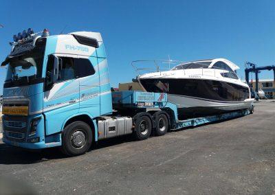 Cepelludo transporte barco 34