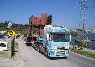 Cepelludo transporte piezas 4